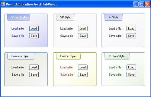 AITabPanel provides developers with a pure extended Windows Panel component..